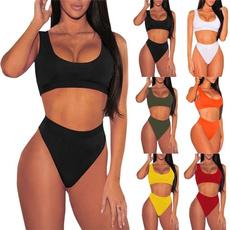 High Waisted Bikini, Fashion, sports Bikini, Tops