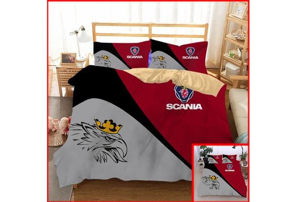 Bedding Set Print 3d Scania Truck, Scania Bedding Set