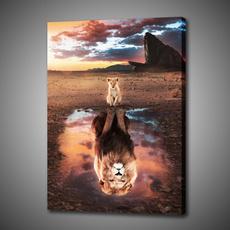 King, canvasprint, art, lionking