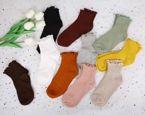 Summer, Cotton Socks, ruffle, Lace