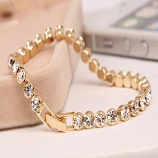 goldplated, Crystal Bracelet, Crystal, Jewelry