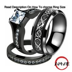 Men, wedding ring, Engagement Ring, Stainless Steel