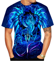 Blues, Fashion, 3dshirt, bluedragon