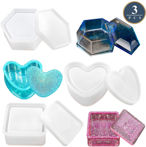 "Resin Mold SECONDS Octagon Base 6/"" x 3/"" 14 x 7 cm Stand Tile Reusable Plastic"