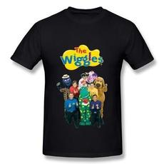 thewiggles100cottonmenssummertshirt, Summer, Funny T Shirt, Cotton Shirt