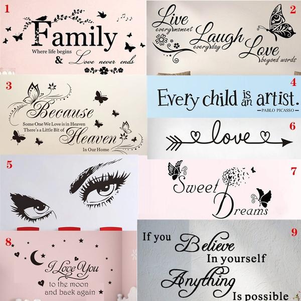 familysticker, PVC wall stickers, Love, Family