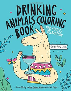party, Gifts, Cocktail, coloringbookforgrownup