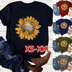 blouse, Summer, Plants, Fashion