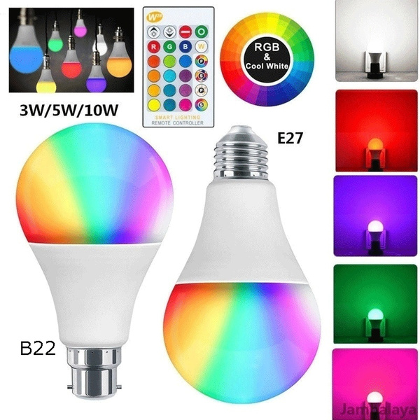 Color Changing Rgbw Magic Bulb Light Creative Led Bulb Dimming 3 5 10w Intelligent Control Multi Color Change Bulb Home Decoration Wish