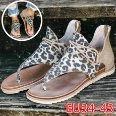 Summer, Plus Size, Womens Shoes, leopard print