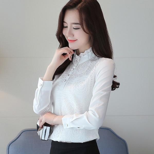 Fashion, Lace, long sleeved shirt, fashion shirt