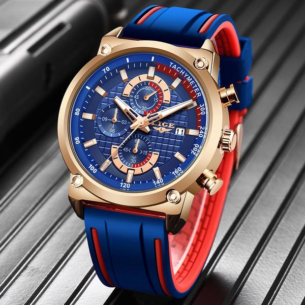 Chronograph, Fashion, silicone watch, Waterproof Watch