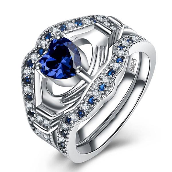 Couple Rings, Sterling, 925puresilver, DIAMOND