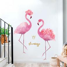 PVC wall stickers, flamingopattern, flamingo, Romantic