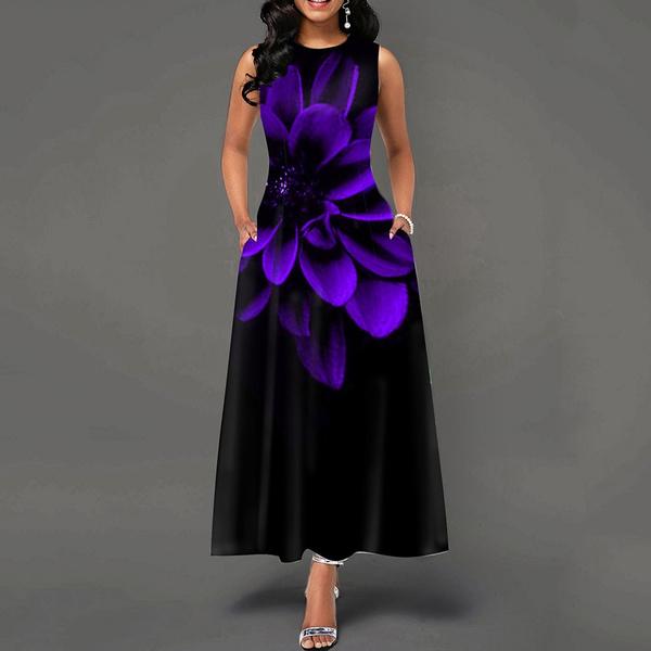 Summer, long dress, Vintage, Dress
