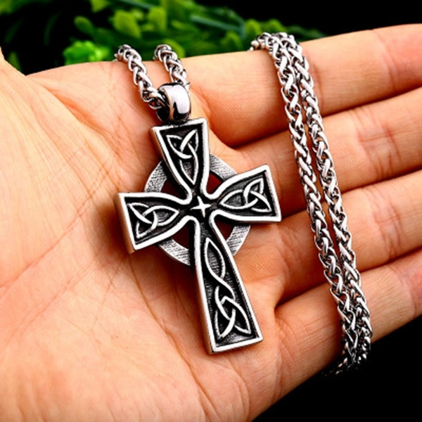 Steel, Celtic, mens necklaces, Jewelry