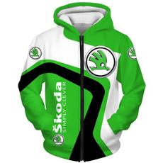 3D hoodies, Fleece, Fashion, skodahoodie