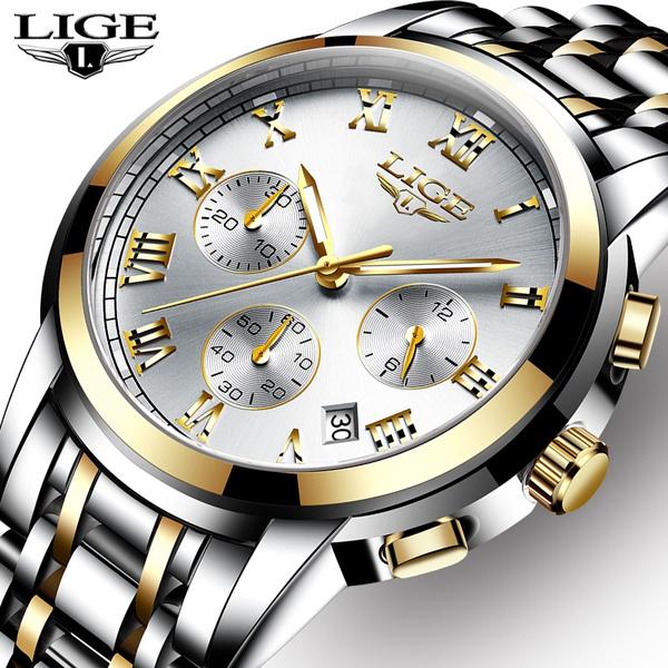 Chronograph, Steel, Men Business Watch, dress watch