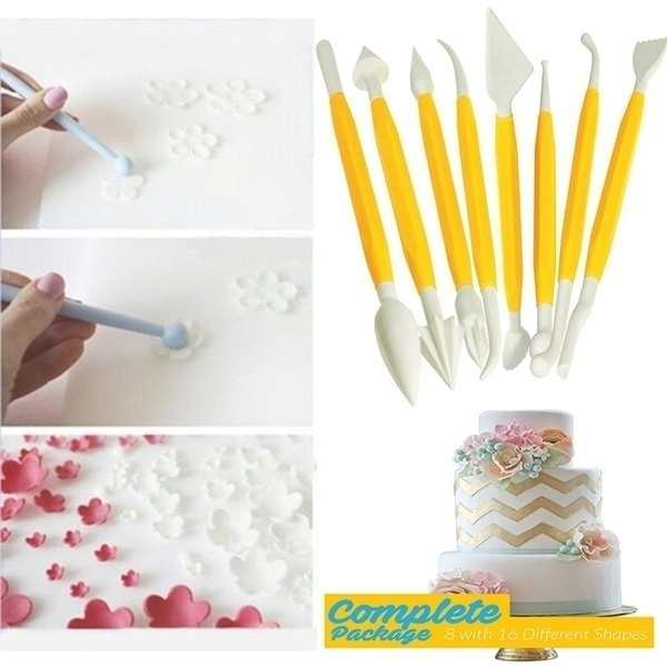 Cake Decorating Tools Clay Flower Sugarcraft Model DIY Tool Choice of 6 sets