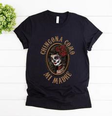 Fashion, Cotton T Shirt, skull, mimadre