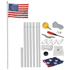 Heavy, gardendécor, Aluminum, flagpolekit