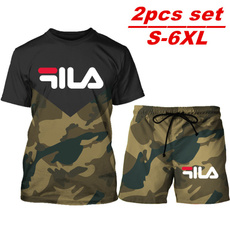 Summer, Plus Size, Sleeve, Army