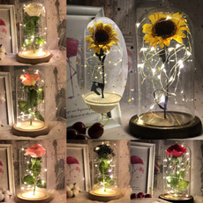 floweringlassdome, eternalflower, led, Sunflowers