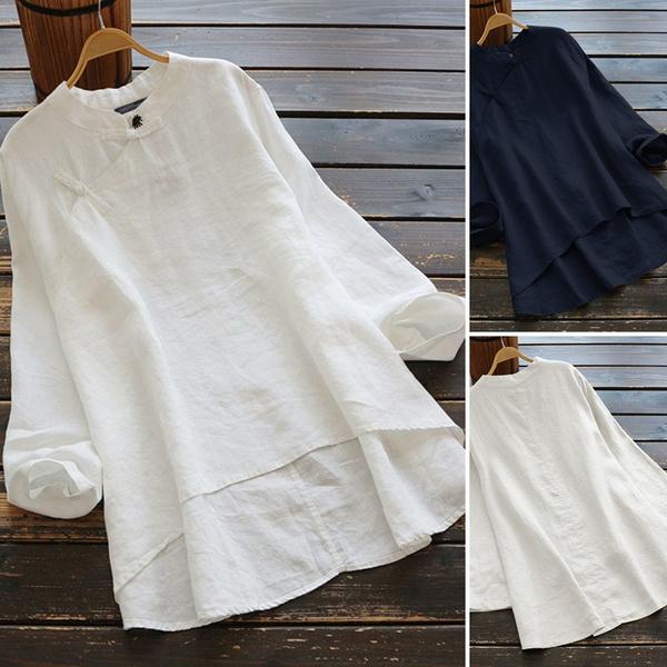 blouse, Vintage, Plus Size, Necks