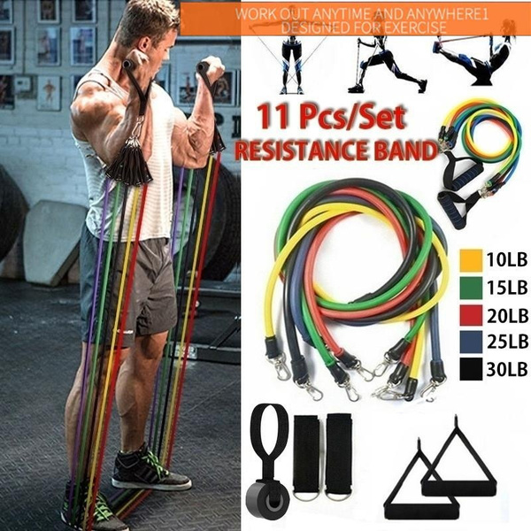 Resistance Bands Tube Workout Exercise Elastic Band Fitness Equipment Yoga home