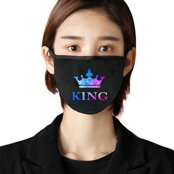 King, Cotton, mouthmask, printedmask