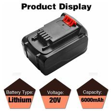black, Capacity, blackanddeckerbatterie, lbx2020vbattery