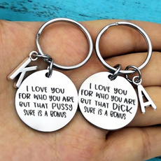 Key Chain, Regalos, couplekeychain, Stainless Steel