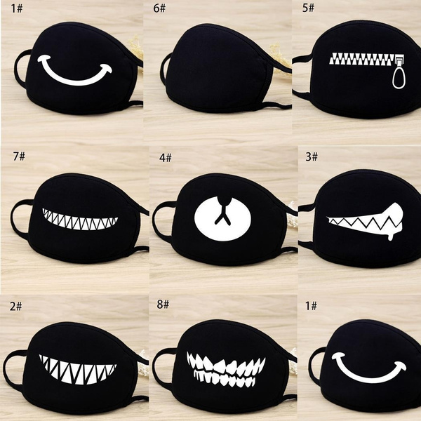 cartoonmask, blackmask, antidust, cute
