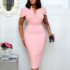 pencil, short sleeve dress, office dress, Office