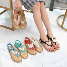 bohemia, Slippers, Sandals, butterfly