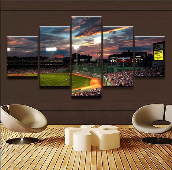 Canvas Wall Art Modular Pictures 5 Pieces Sports Fenway Park Painting Hd Prints Poster Artwork Home Decor Living Room No Frame Wish