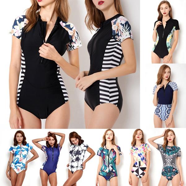 Plus Size, Sports & Outdoors, shortsleevesswimwear, Women's Fashion