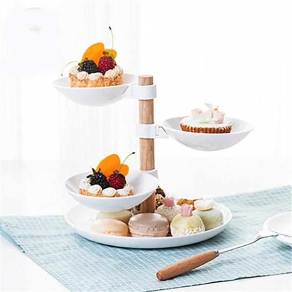 case, rotating, Snacks, fruitplate