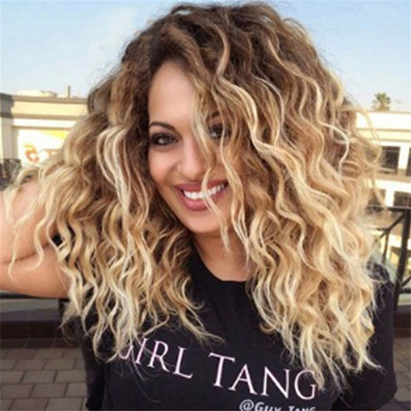 Synthetic, wig, longcurlywig, africanblack