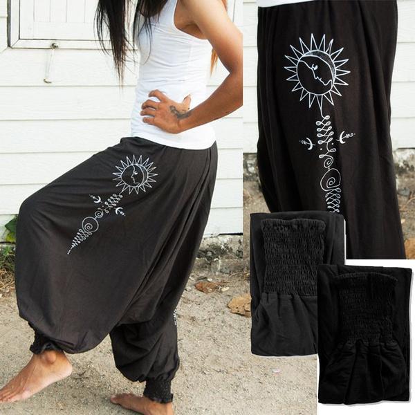 Women Pants, bohemia, harem, Plus Size