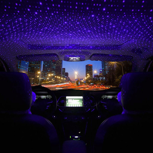 2020 LED Car Roof Star Atmosphere Lights Projector Light Interior Ambient  Atmosphere Galaxy Lamp Decoration Light USB Plug   Wish