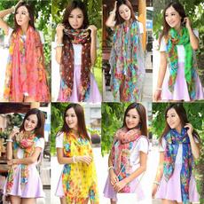 Scarves, Fashion, Colorful, chiffon