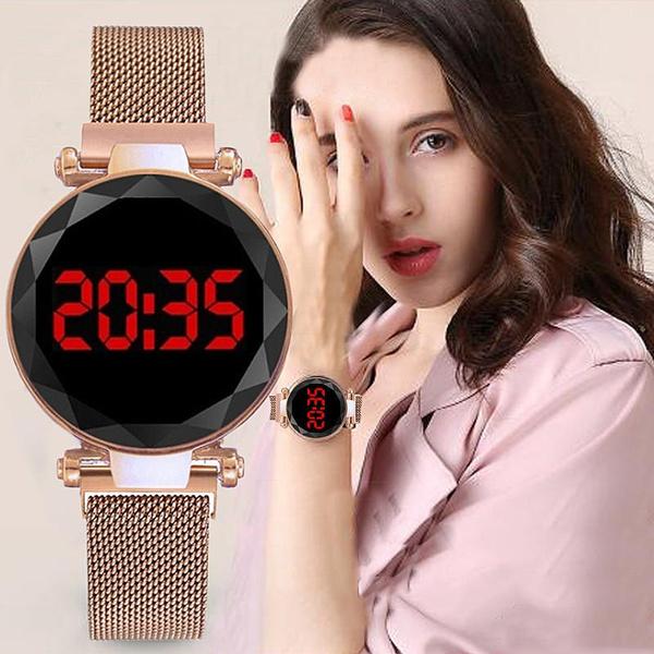 Watches Women's, led, rosegoldwatch, starryskywatch