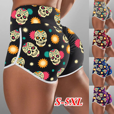 runningshort, Plus Size, skull, pants