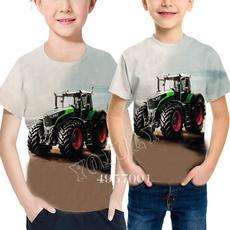 neuheit, traktor, kurzarm, Harajuku