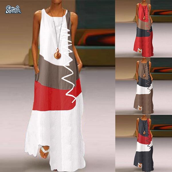 sleeveless, Plus Size, Summer, Dress