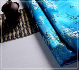 Blues, long skirt, Fabric, blossom