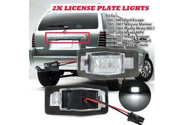 Pack of 2 MOFORKIT LED License Plate Light Lamp Assembly For 1999 ...