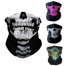 headbandmask, halffacemask, Winter, skull