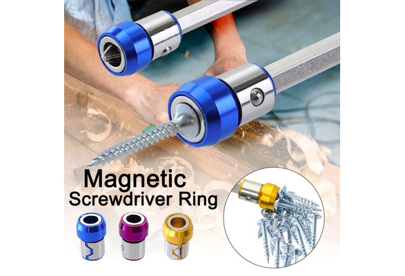 YANGYANPING Magnetic Ring Alloy Electric Magnetic Ring Screwdriver Bits Anti-Corrosion Strong Magnetizer Phillips Drill bit Magnetic Ring
